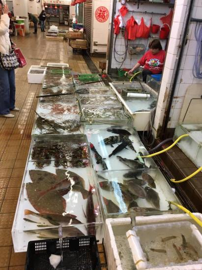 live fish @ cheung chau wet market
