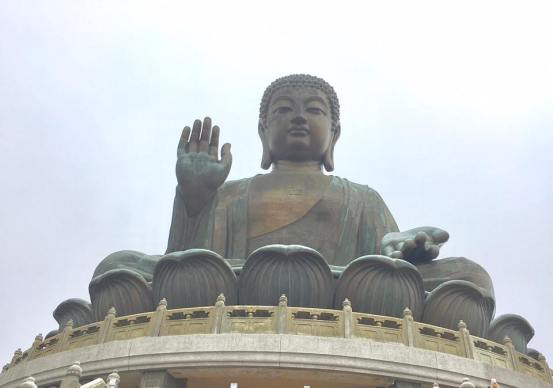 Tian Tan Buddha,aka Big Buddha, completed in 1993, and located at Ngong Ping, Lantau Island,
