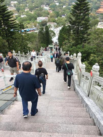 going down from the big buddha