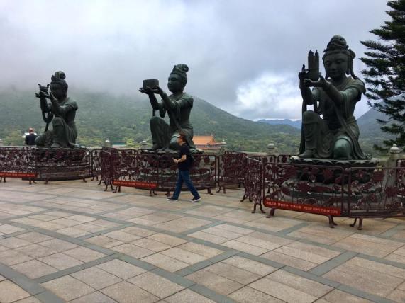 stone sculptures at big buddha