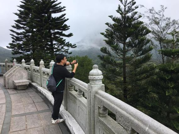 a foggy day at tian tan buddha