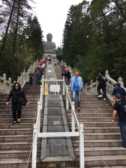 going up the 268-steps
