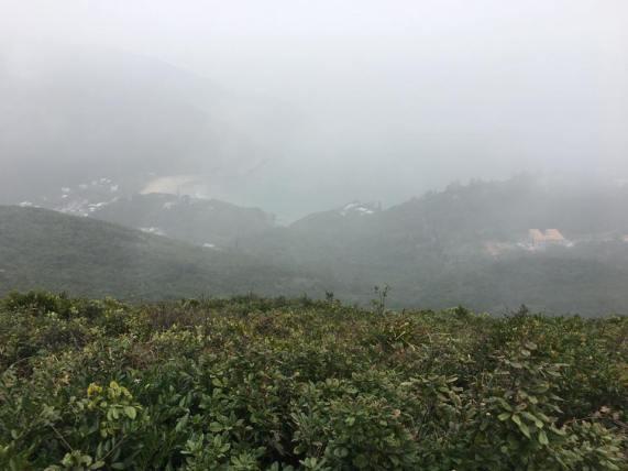 dragon's back = very foggy day