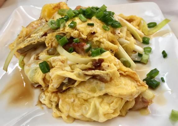 char siew fried egg