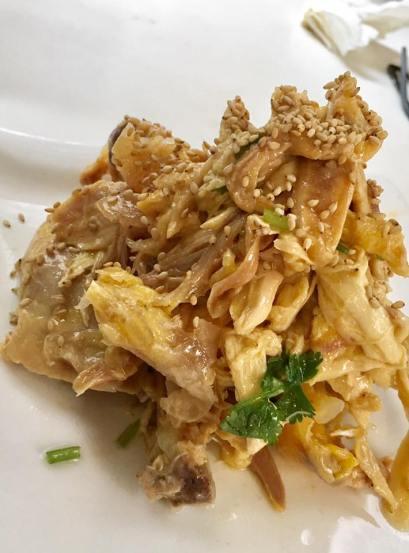 手撕鸡 had tear chicken @ minsheng daipaidong 民声冰室