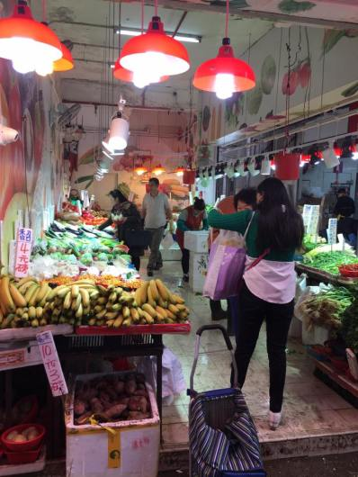 shau kei wan street market - fruit stalls