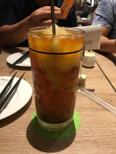 honey lemon drink @ teawood 茶木 cafe at tung chun