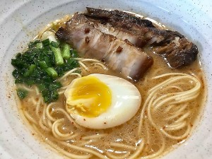 Ichiran Ramen, Chashu, Runny Yoke Egg & Bakuteh on 8Jun2018