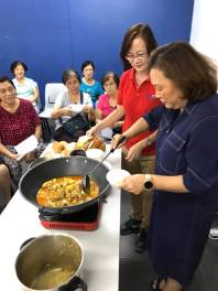 my 8th cooking demo at teban gardens community service centre