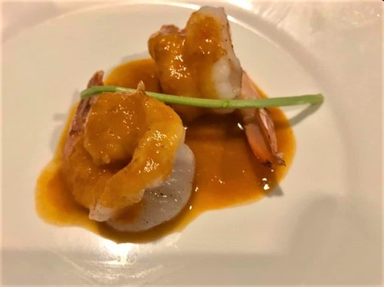 #1 garlic prawns (gambas al ajillo) with prawn bisque sauce