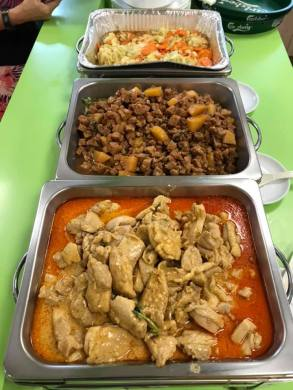 3 dishes for HCA 40pax lunch