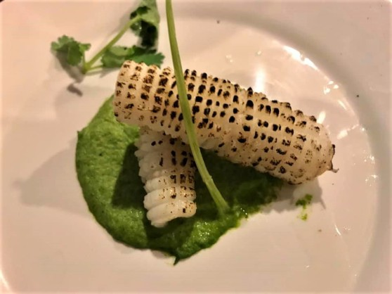 #4 flamed squid on broccoli puree 👍👍👍2