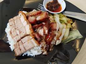 char siew roast pork rice