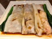 cheong fun - prawns, char siew, beef