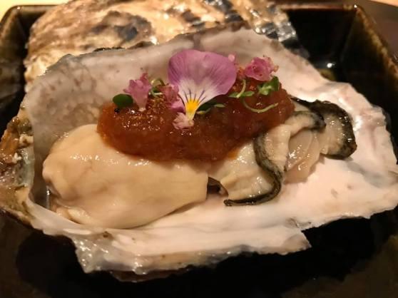 large oyster sashimi