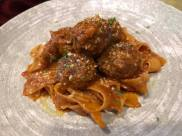 meat balls papardelle was good