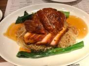 roast duck char siew noodles