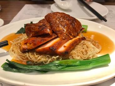 roast duck char siew noodles