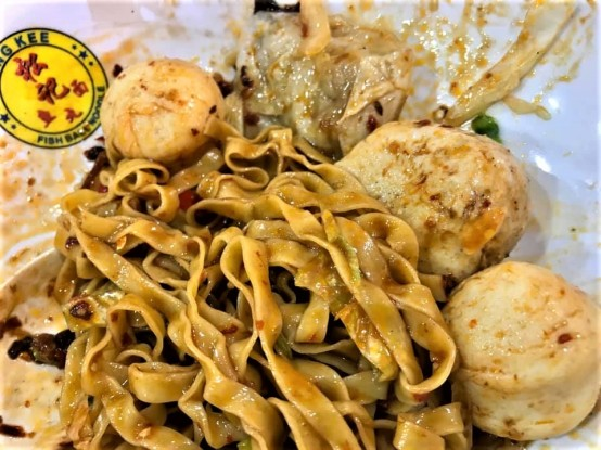 S$6 song kee fishball noodles