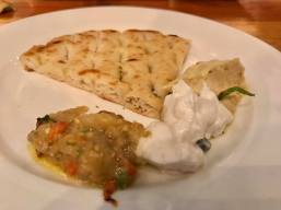 pita bread with humus, white cod roe & eggplant dips