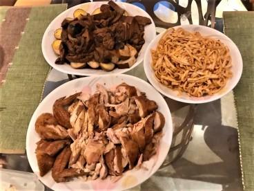 family soy sauce chicken dinner