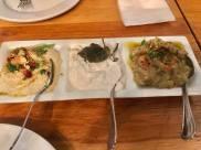 humus, white cod roe & eggplant