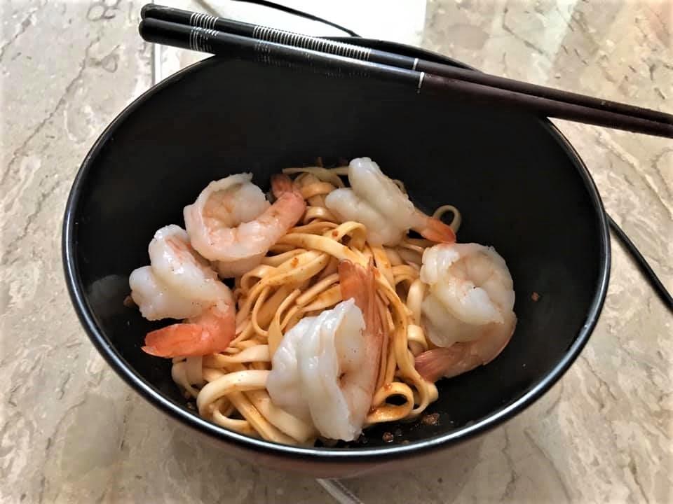 prawns dry bean noodles2