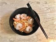 prawns dry bean noodles 豆签