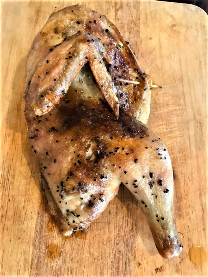 1/2 truffle sauce roast chicken