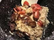 sausage claypot rice