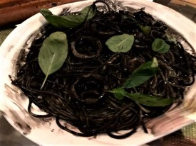 squidink pasta with squid