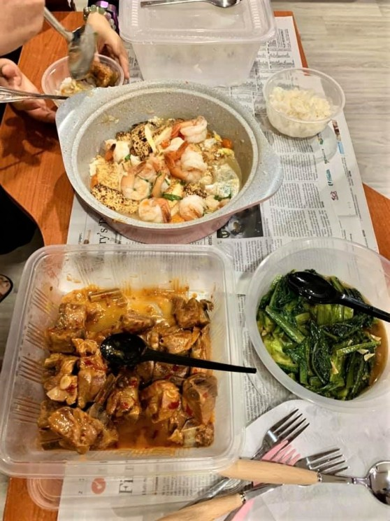 homecooked 5pax lunch dishes