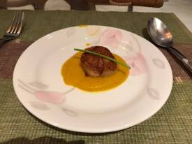 pan seared scallop on pumpkin puree2