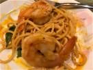 prawn spaghetti in prawn bisque
