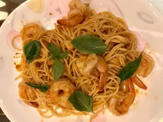 prawn spaghetti in prawn bisque sauce3