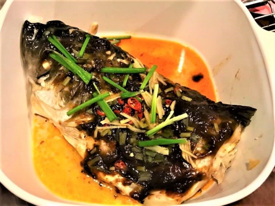 spicy black bean sauce song fish head 松鱼头