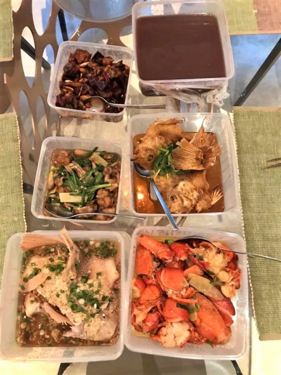 5dishes takeaway S$136 nett from ah yat grandstand