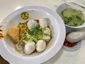 S$7 song kee fishball noodles meepok tar