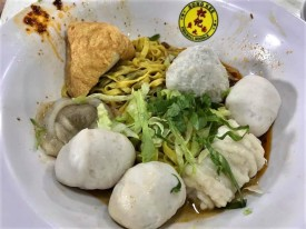 S$7 song kee fishball noodles meepok tar