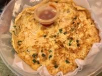 sakura prawns omelette