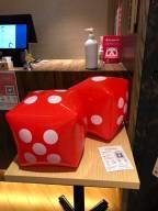 daughter threw dice got 50% discounts